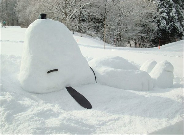 Snoopy des neiges