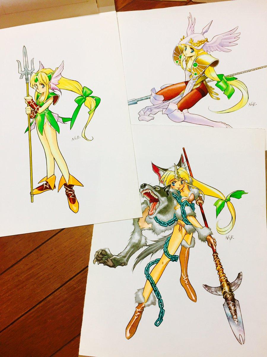 Seiken Densetsu 3 Illustration Book - Riesz - Nobuteru Yuuki
