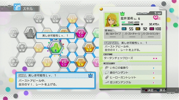 Idolm@ster : One For All - skill tree