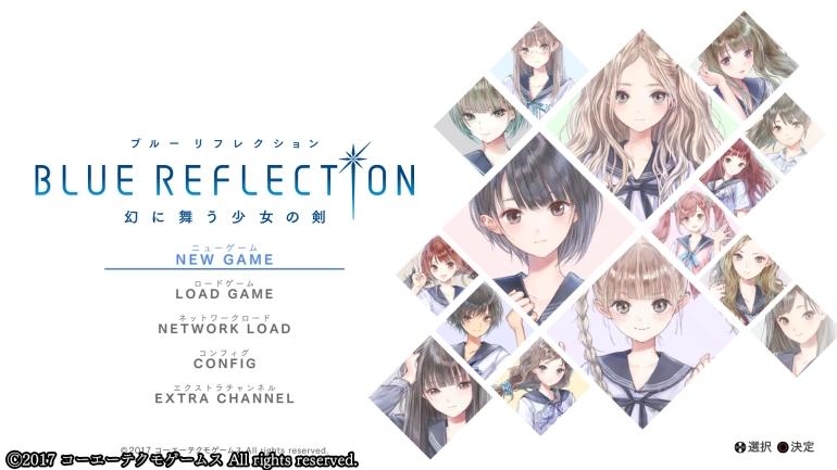 Blue Reflection - écran titre